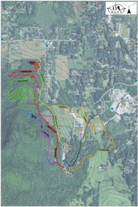 This is a trail map of the BATS Trails