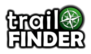 Trail Finder Logo with compass